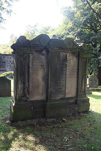 John Lizars - The Lizars grave, St Cuthberts, Edinburgh