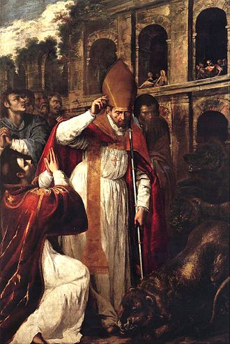 Januarius - The Martyrdom of St Januarius, by Artemisia Gentileschi (1636)