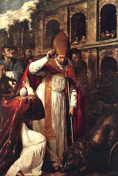 Archivo: The Martyrdom of St. Januarius in the Amphitheatre at Pozzuoli.jpg
