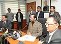 The Minister of State for Minority Affairs (Independent Charge) and Parliamentary Affairs, Shri Mukhtar Abbas Naqvi addressing at the launch of the website of Haj Committee of India, in New Delhi on December 20, 2016.jpg