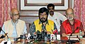 The Minister of State for Social Justice & Empowerment, Shri Ramdas Athawale addressing a press conference, in Mumbai on March 24, 2018.jpg