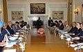 The Pakistan's Foreign Secretary, Mr. Salman Bashir and the Foreign Secretary of India, Shri Shivshankar Menon are at the Indo-Pak Foreign Secretary delegation level talks, in New Delhi on July 21, 2008.jpg