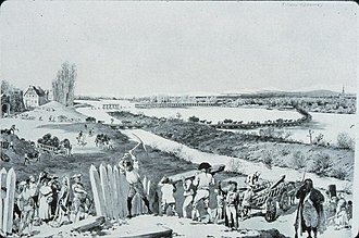 Siege of Kehl (1796–97) - Strasbourgers assist in the demolition of the Redoubt of Kehl on 9 January 1797.  Once the surrender occurred, the French took everything they could move, leaving the Austrians naught but a pile of rubble.