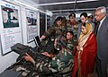 The President, Smt. Pratibha Devisingh Patil visiting surveillance unit of the army in a forward area of Rajouri, J&K on October 09, 2009.jpg