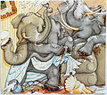 The Right Number of Elephants (4) illustrated by Felicia Bond and written by Jeff Sheppard.JPG