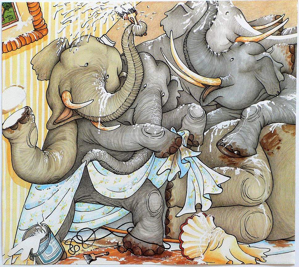 The Right Number of Elephants (4) illustrated by Felicia Bond and written by Jeff Sheppard