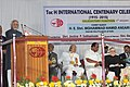 The Vice President, Shri M. Hamid Ansari addressing the gathering during the Valedictory function of the Toc H International Centenary celebrations, at Vyttila, Kochi, in Kerala on January 11, 2016 (1).jpg