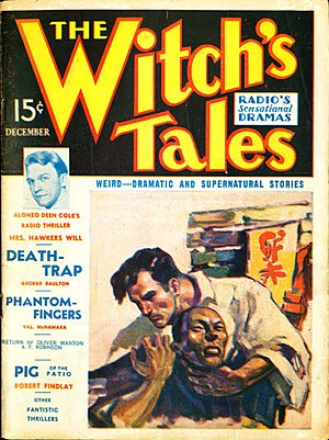 The Witch's Tales - The December 1936 issue; cover art by Elmer Stoner