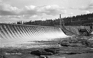 Porjus Hydroelectric Power Station - The damn, circa 1930-1949