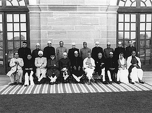 Bengal Legislative Assembly - Syama Prasad Mukherjee (sitting first on the right) in the first cabinet of India.