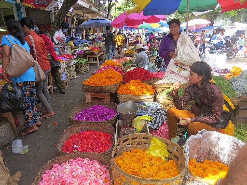 The flowers markrt in Bali