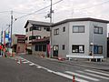 The road in front of Toyosato station.JPG