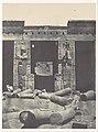 Thebes. Médinet-Habou. Partie orientale du Péristyle du Palais de Ramsès-Méiamoun MET DP116183.jpg