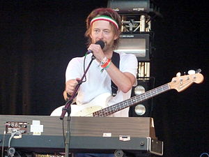 "The National Anthem (Radiohead song) - The bass riff of ""The National Anthem"" was written and performed by Thom Yorke (pictured in 2010)"