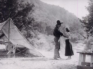 Three Mounted Men - Carey and Gerber in the film