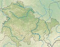 Thuringia relief location map