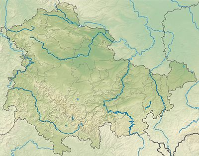 Location map Germany Thuringia