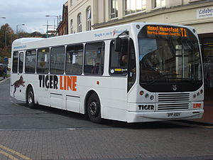 East Lancs Myllennium - Tiger Line East East Lancs Myllennium Hyline in Chesham in October 2008