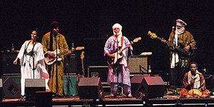 Tinariwen performing in Nuremberg, 2010