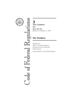 <i>Code of Federal Regulations</i> Compilation of US federal regulations