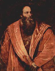 Ticiano: Portrait of Pietro Aretino
