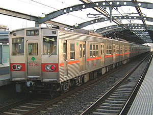 Toei Asakusa Line - 5200 series trains introduced on the line in 1976 and withdrawn in 2006