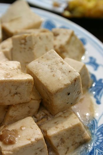 Examples of high-protein foods are tofu, dairy products, fish, and meat.