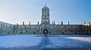 Tom Quad, Christ Church in the snow.
