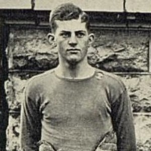 Tom Zerfoss - Zerfoss in football uniform.