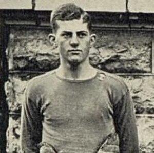 Tom Zerfoss - Zerfoss in football uniform.