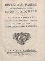 Tommaso Perelli – Risposta al parere de' molto reverendi padri Seur , 1765 - BEIC 2061824.tif
