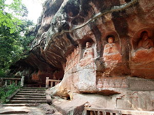 Ganzhou - The Tongtianyan Grottoes (通天岩石窟) in Ganzhou