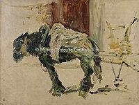Toulouse-Lautrec - CHEVAL DE TRAIT A CELEYRAN, 1881, MTL.54.jpg