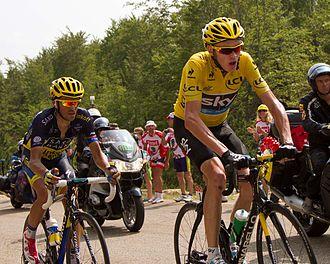 Alberto Contador - Contador with Chris Froome at the 2013 Tour de France