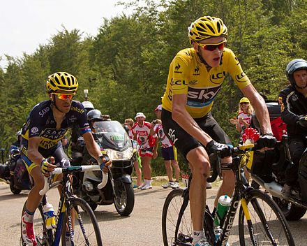 Contador with Chris Froome at the 2013 Tour de France 3d5ac63a8