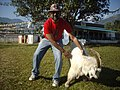 Tourist Rudolph.A.Furtado with Himalayan goat.(Friday 25-11-2011).jpg