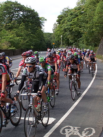 Tour of Britain - Stage 3 of the 2005 race passing through Honley, near Huddersfield