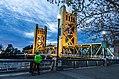 Tower Bridge Cyclist, Sacramento (25466843954).jpg