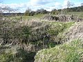 Trench across the line of the disused railway, Clifton - geograph.org.uk - 758831.jpg