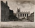 Trinity College, Oxford; from Broad Street. Line engraving b Wellcome V0014174.jpg