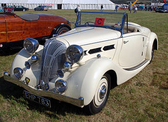 Triumph Dolomite (1934–40) - Roadster drophead coupé s.w.b. with dickey seat