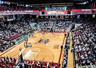 Troy Trojans men's basketball - View on the main court in Trojan Arena.