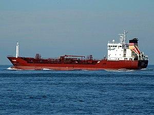 Troma p3 leaving Port of Rotterdam, Holland 21-Feb-2005.jpg
