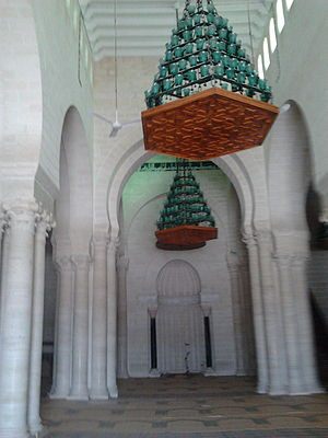 Great Mosque of Mahdiya - Central nave of the prayer hall