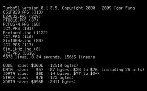 Turbo51 - Image: Turbo 51 0.1.3.5 output
