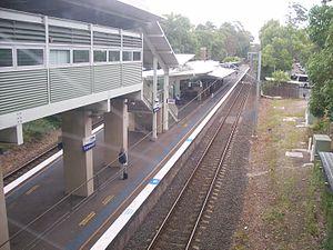 Turramurra railway station - Northbound view
