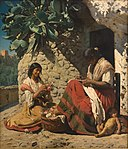 Two gypsy women outside their home (1878 painting).jpg