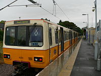 Tyne and Wear Metro train 4001 at South Hylton 01.jpg