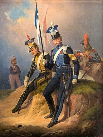 Duchy of Warsaw - Polish uhlans from the Army of the Duchy of Warsaw 1807–1815 January Suchodolski painting