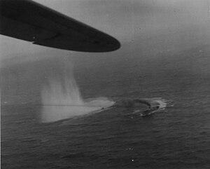 German submarine U-135 (1941) - U-135 under attack on 15 July 1943.